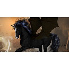 Awesome Dark Unicorn With Clouds You Are Invited 3d Greeting Card (8x4)  by FantasyWorld7