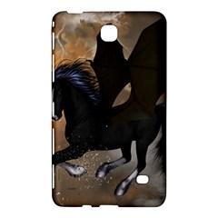 Awesome Dark Unicorn With Clouds Samsung Galaxy Tab 4 (7 ) Hardshell Case  by FantasyWorld7