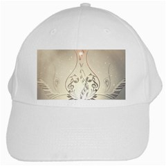 Music, Piano With Clef On Soft Background White Cap