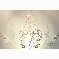 Music, Piano With Clef On Soft Background Canvas 24  x 36  by FantasyWorld7