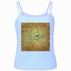 The All Seeing Eye With Eye Made Of Diamond Baby Blue Spaghetti Tanks by FantasyWorld7