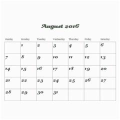 Vivi2 By Fook   Wall Calendar 11  X 8 5  (12 Months)   9zcwwj4r3cww   Www Artscow Com Aug 2016