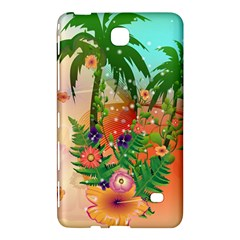 Tropical Design With Palm And Flowers Samsung Galaxy Tab 4 (7 ) Hardshell Case  by FantasyWorld7