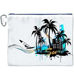 Surfing Canvas Cosmetic Bag (xxxl)  by EnjoymentArt