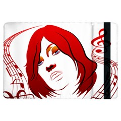Women Face With Clef Ipad Air Flip by EnjoymentArt
