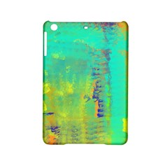 Abstract In Turquoise, Gold, And Copper Ipad Mini 2 Hardshell Cases by theunrulyartist