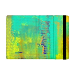 Abstract in Turquoise, Gold, and Copper iPad Mini 2 Flip Cases