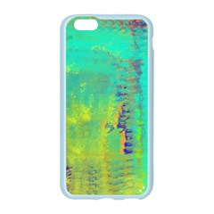 Abstract in Turquoise, Gold, and Copper Apple Seamless iPhone 6/6S Case (Color)