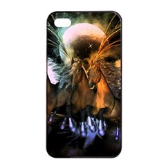 Wonderful Horses In The Universe Apple Iphone 4/4s Seamless Case (black) by FantasyWorld7