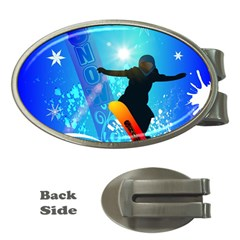 Snowboarding Money Clips (oval)  by FantasyWorld7