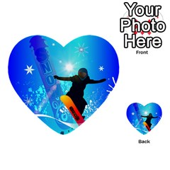 Snowboarding Multi Purpose Cards (heart)  by FantasyWorld7