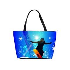 Snowboarding Shoulder Handbags by FantasyWorld7