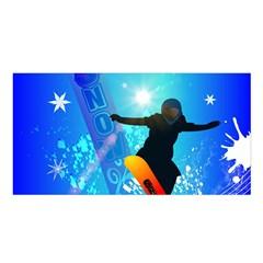 Snowboarding Satin Shawl by FantasyWorld7