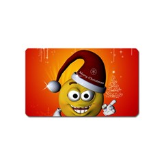 Cute Funny Christmas Smiley With Christmas Tree Magnet (name Card) by FantasyWorld7