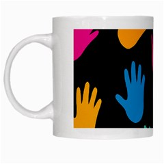 All Over Hands White Mugs by ImpressiveMoments