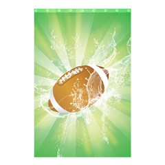 American Football  Shower Curtain 48  X 72  (small)  by FantasyWorld7