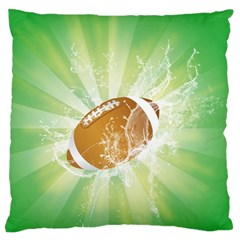 American Football  Standard Flano Cushion Cases (one Side)  by FantasyWorld7