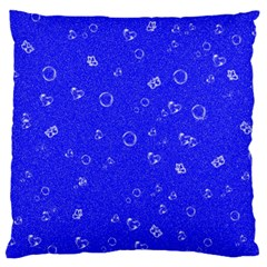 Sweetie Blue Large Flano Cushion Cases (one Side)  by MoreColorsinLife