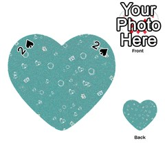 Sweetie Soft Teal Playing Cards 54 (Heart)  by MoreColorsinLife