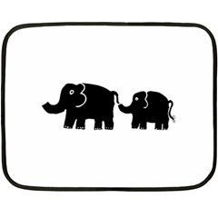 Elephant And Calf Fleece Blanket (mini)