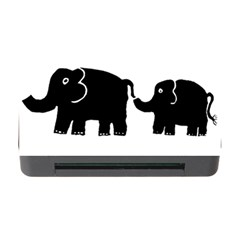 Elephant And Calf Memory Card Reader With Cf by julienicholls