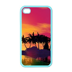 Wonderful Sunset Over The Island Apple Iphone 4 Case (color) by FantasyWorld7