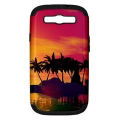 Wonderful Sunset Over The Island Samsung Galaxy S Iii Hardshell Case (pc+silicone) by FantasyWorld7
