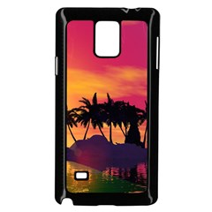 Wonderful Sunset Over The Island Samsung Galaxy Note 4 Case (black) by FantasyWorld7