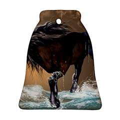 Beautiful Horse With Water Splash Bell Ornament (2 Sides)