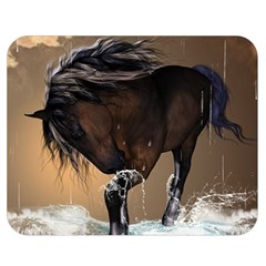 Beautiful Horse With Water Splash Double Sided Flano Blanket (medium)  by FantasyWorld7