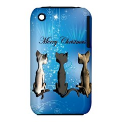 Merry Chrsitmas Apple Iphone 3g/3gs Hardshell Case (pc+silicone) by FantasyWorld7