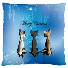 Merry Chrsitmas Standard Flano Cushion Cases (one Side)  by FantasyWorld7