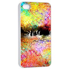 Colorful Tree Landscape Apple Iphone 4/4s Seamless Case (white) by theunrulyartist