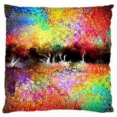 Colorful Tree Landscape Standard Flano Cushion Cases (one Side)  by theunrulyartist