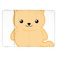 Kawaii Cat Samsung Galaxy Tab 8 9  P7300 Flip Case by KawaiiKawaii