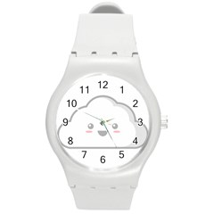 Kawaii Cloud Round Plastic Sport Watch (m) by KawaiiKawaii
