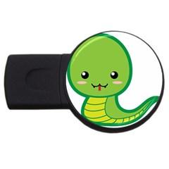 Kawaii Snake Usb Flash Drive Round (2 Gb)  by KawaiiKawaii
