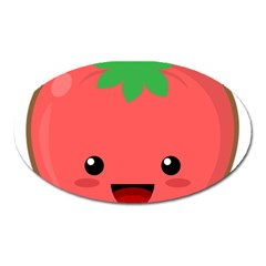 Kawaii Tomato Oval Magnet by KawaiiKawaii