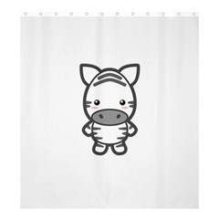 Kawaii Zebra Shower Curtain 66  X 72  (large)  by KawaiiKawaii