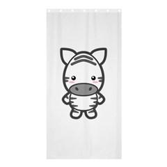 Kawaii Zebra Shower Curtain 36  X 72  (stall)  by KawaiiKawaii