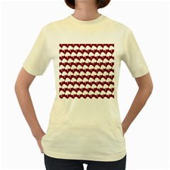 Tree Illustration Gifts Women s Yellow T-Shirt