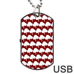 Tree Illustration Gifts Dog Tag Usb Flash (two Sides)  by creativemom