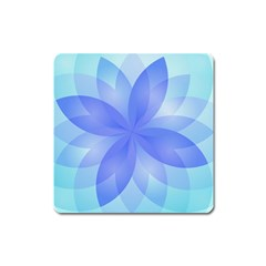Abstract Lotus Flower 1 Square Magnet by MedusArt