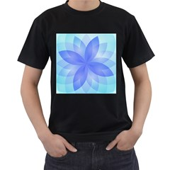 Abstract Lotus Flower 1 Men s T Shirt (black) (two Sided) by MedusArt