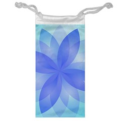 Abstract Lotus Flower 1 Jewelry Bags by MedusArt