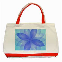 Abstract Lotus Flower 1 Classic Tote Bag (red)  by MedusArt