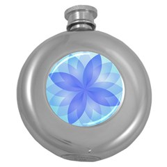 Abstract Lotus Flower 1 Round Hip Flask (5 Oz) by MedusArt