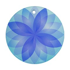 Abstract Lotus Flower 1 Round Ornament (two Sides)  by MedusArt