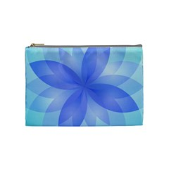 Abstract Lotus Flower 1 Cosmetic Bag (medium)  by MedusArt