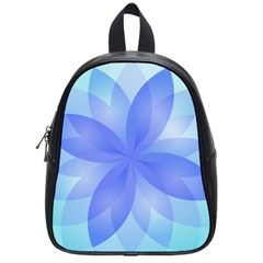 Abstract Lotus Flower 1 School Bags (small)  by MedusArt